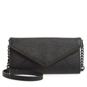 REBECCA MINKOFF Cleo Wallet on a Chain Black NEW
